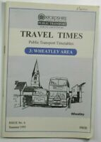 Summer 1995 Travel Times Public Transport Timetable 3 Wheatley Area Issue 6