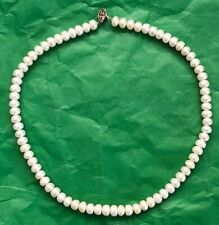VINTAGE CULTURED PEARL NECKLACE WITH STERLING CLASP