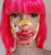 Beaten Plaster Face Comedy Latex Half Face Mask Costume Fancy Dress Party