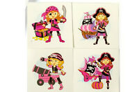 24 Kids Pink Pirate Girl Birthday Party Loot Filler Temporary Tattoos
