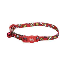 """COASTAL SAFE CAT RED GEARS SAFETY 8""""-12"""" BREAKAWAY COLLAR FREE SHIP IN THE USA"""