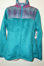"FILA SPORT Women's Fleece Printed Bella Jacket ""Deep Lake"" Size M Transition NWT"