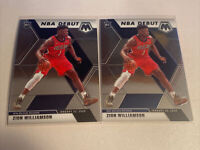 2019-20 Panini Mosaic Zion Williamson Rookie NBA Debut Lot (2) #269 Pelicans