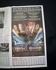 Best PIRATES OF THE CARIBBEAN Movie Opening Day AD Review 2003 L.A. CA Newspaper