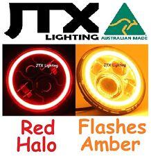 "RED JTX 7"" Head Lights Austin Healey Sprite A30 Bugeye Frogeye 3000 Mk1 Mk2 100"