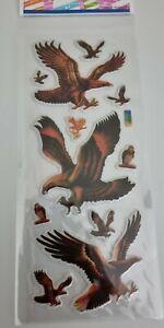 Sticker Sheet 3D Raised Stickers Craft Scrapbook Bird of Prey Birds Eagle