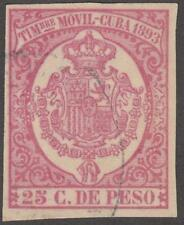 Spain Caribbean Island Colony Timbre Movil Revenue Forbin #13 used 25c 1893