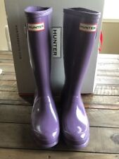HUNTER original Gloss Dusty Lavender Boots Big Kids Size 5