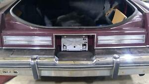80-84 Oldsmobile 98 Sedan Tail / Trunk Finish Panel Assembly (Dark Maple)