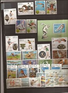 LAOS- 30 stamps for various Olympic games