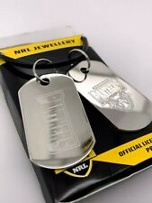 NRL Penrith Panthers Gents Double Dog Tag Stainless Steel Necklace RRP $49.95
