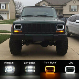 1 For Chevy Express Cargo Van 1500 2500 3500 Truck 7X6 5X7 Inch LED Headlight