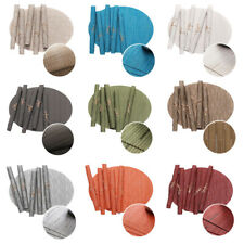 5 PCS Tableware Mats Bamboo Pattern Oval Placemat Non-Slip Heat Insulation Mats