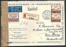 Switzerland 1945 cens R-Airmailcover Label Night and day speeds business