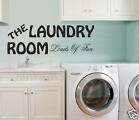 LAUNDRY ROOM WALL DECAL for your home, 4 designs in 16 colours Available