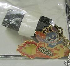 Disney Stitch Spaceship Medallion & Pin Lanyard Light Up In the Original Package