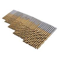 Set di punte da trapano 1/1.5/2/2.5/3mm HSS DIY Rivestito in titanio durevole