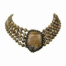 Stephen DWECK Sterling OOAK 5 strand stone bib Necklace New, Never Worn 1990s