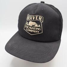 Vintage Beaver Excavating Company Mesh Adjustable Snapback Trucker Hat Cap