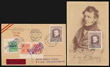 AUSTRIA EXPRESS MAXI CARD 1947 POSTAGE DUES CANCELLED FDC VFU