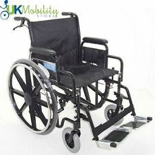 "Self Propelled Folding Heavy Duty Extra Wide Bariatric Wheelchair 20"" Inch Seat"