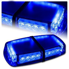 Blue 24LED Emergency Recovery Strobe Flashing Light Bar Magnetic Car Roof Beacon