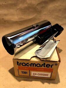 Vtg Juno Trac-master T301 Track Lighting Lamp Head Fixture NIB Brass & Chrome