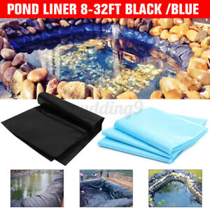6 Sizes Fish Pond Liner Gardens Pools Membrane Reinforced Landscaping Impervious