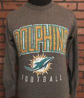 NFL Football Miami Dolphins Team Apparel Men's Long Sleeve Shirt Size Small