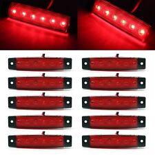 10x Red 6 LED Side Marker Indicators Lights for Car Truck Trailer Bus Lamp UK