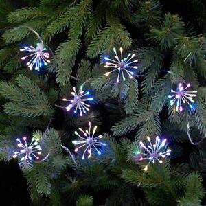 Festive 200 LED Twinkling Starburst Christmas Lights - Pastel