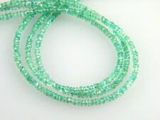"Natural Untreated Colombian Emerald Faceted Rondelle Beads 3 - 3.1mm - 7"" Strand"