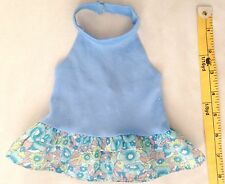 """Blue Print 5X7"""" Haulter Top (laying flat) Dress Doll Clothes"""