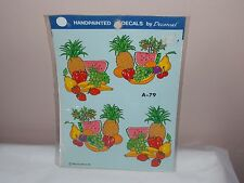 Vtg 1986 Decoral Handpainted Waterslide Decals Fruits  A-79 New Old Stock