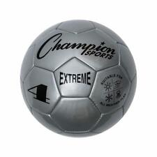 Champion Sports Extreme Soft Touch Butyl Bladder Soccer Ball, Size 4, Silver