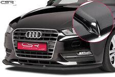 Cup Spoiler Front Ansatz Lippe Schwert für Audi A3 8V Carbonlook