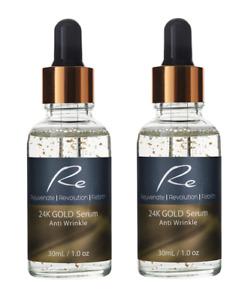 24K Gold Ati-Wrinkle Serum_Collagen Boost_Cell Regeneration_Hydration - 2x30ml