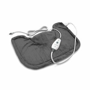 Pure Enrichment PureRelief Neck and Shoulder Heating Pad (Charcoal Gray) - Fa...