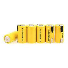NUOVO 6pcs SUB C SC 1.2V 1300mAh NI-CD NICD / NiMH batteria ricaricabile -GIALLO