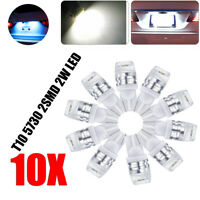 10PCS T10 194 168 W5W 5730 LED 2-SMD Super White Car Side Wedge Light Bulb 12V