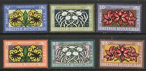 British Honduras (1971) - Scott # 275 - 280,   MNH