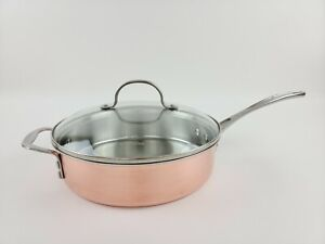 Calphalon Stainless Steel Copper 3 Qt Saute Pan Glass Lid