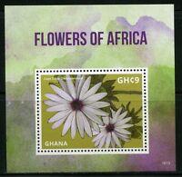 GHANA 2016 FLOWERS OF AFRICA  S/S MINT NH
