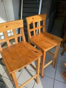 Pine John Lewis Bar stools x2