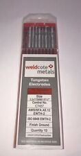 """TIG Welding Tungsten Electrode 2% Thoriated (Red) 1/8"""" x  7"""" 10-PACK"""