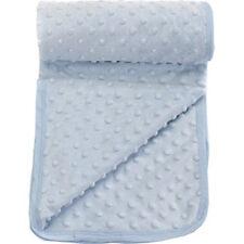 Popcorn Textured/Dimple Effect Pram,Moses Blanket (Blue)