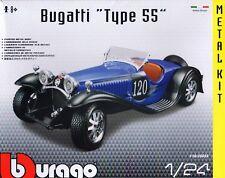 Bugatti Type 55 Die-cast Metal Modelo Kit de coche por Burago Escala 1:24 ~ Nuevo
