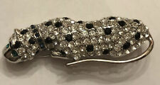 New Vtg Kenneth Jay Lane KJL For Avon Panther With Rhinestones Brooch Pin