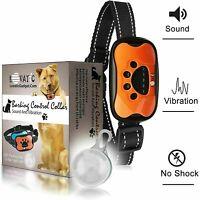Dog Bark Collar - No Shock Vibration and Sound Humane Training Device