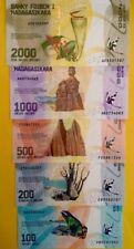 MADAGASCAR NEW 2017 100 200 500 1000 2000 Ariary GREAT UNCIRCULATED BANKNOTES